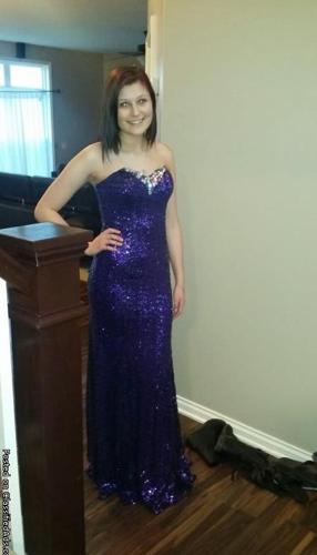 Purple Sequin Prom Dress!