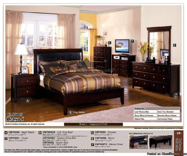 queen bedroom set oak cherry espresso dark brown solid wood quality