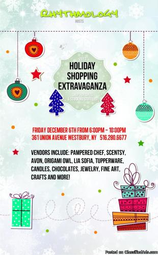 Rhythmology's First Annual Holiday Shopping Extravaganza!!