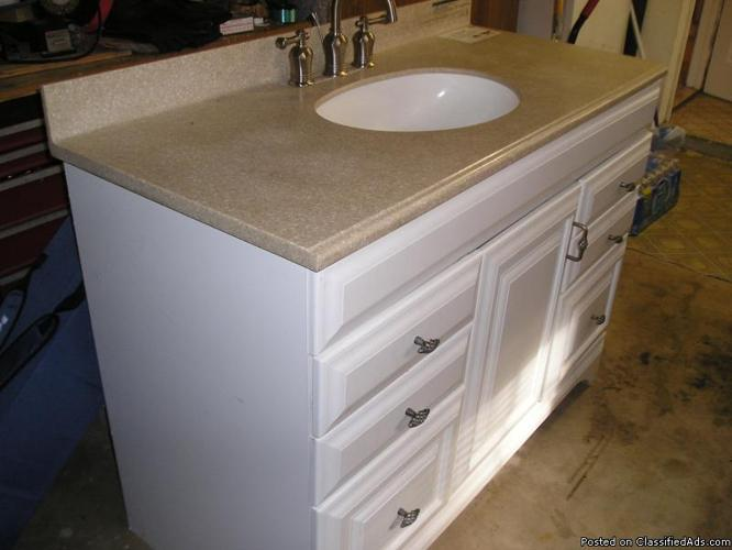 slightly used bathroom vanity counter top faucet price