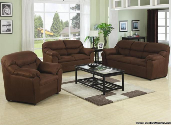 sofa love chair living room set dark chocolate brown espresso color
