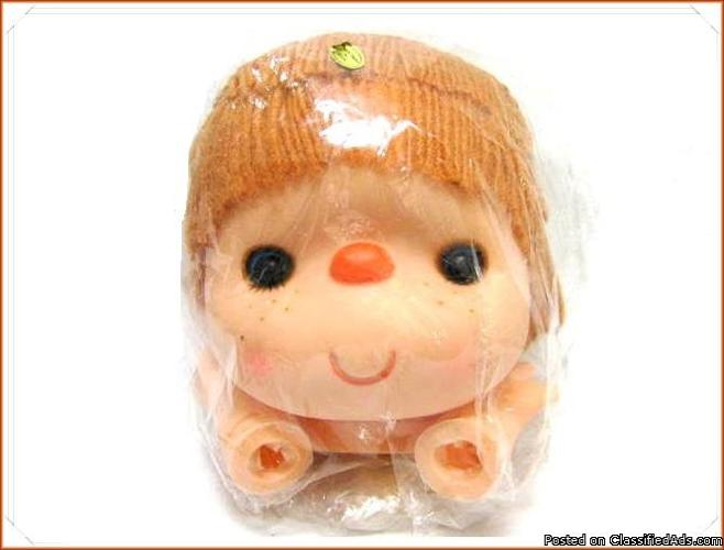 Strawberry Shortcake Dumplin Designs Rubber Doll Head Hands Vintage Hong Kong - Price: 12.99