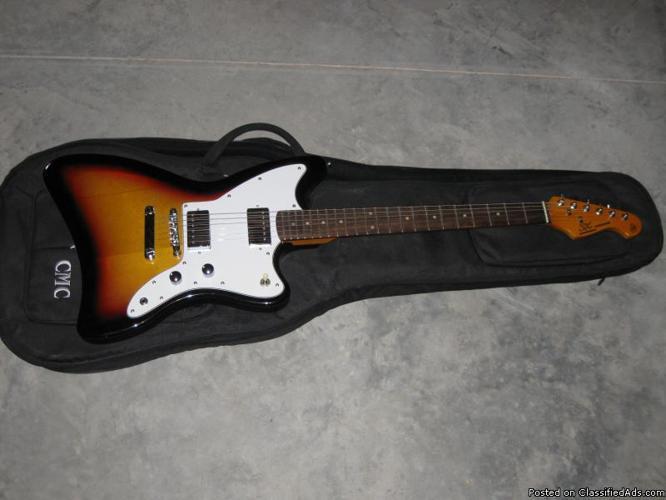 SX Custom Handmade Electric Guitar with Case - Price: $150