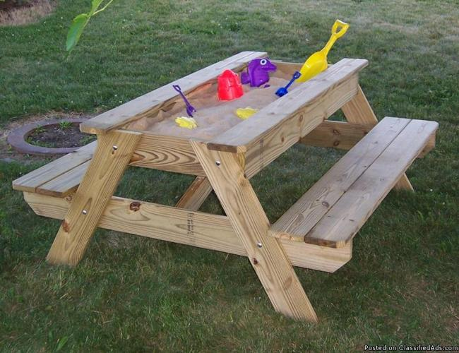 The Ultimate Kids Picnic Table with Sandbox w/ Free Delivery - Price ...