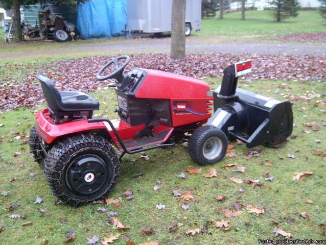 Toro wheel horse riding snow plow and blower - Price: $1000