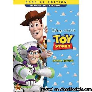 Toy Story 1+2 Blu Ray DVD COMBO - Price: 44.00