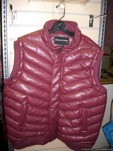 Urban Source 3x Men's Maroon Vest Leather - Price: $70