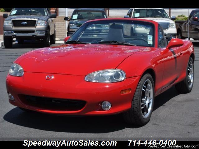 Used cars near me 2004 Mazda MX-5 Miata, 26 MPG, For sale in Fullerton