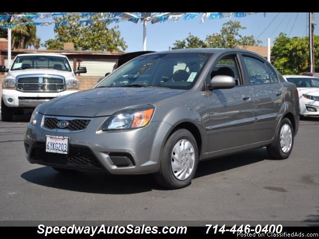 Used cars near me 2010 Kia Rio LX, Clean Carfax Report, Automatic, For sale in Fullerton