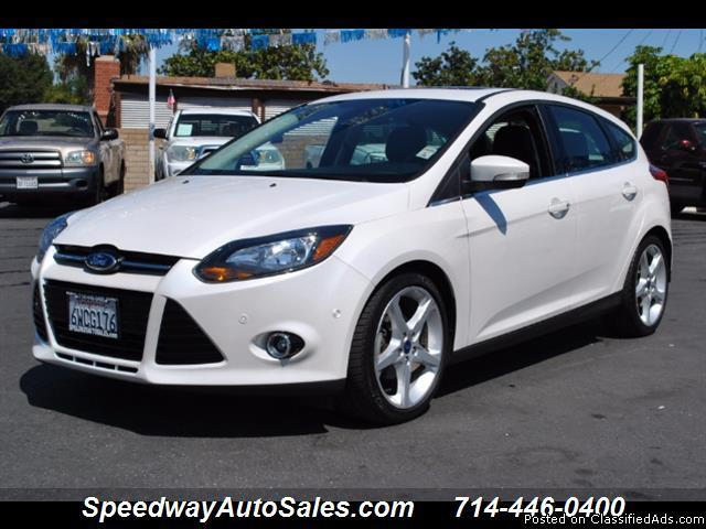 Used cars near me 2012 Ford Focus Titanium, 1 Owner, Navigation, Back-up Camera, For sale in Fullerton`
