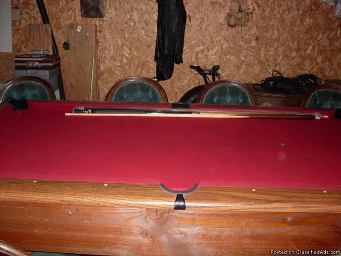 Very nice slate pool table