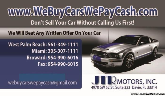 We Buy Cars Used Car For Sale West Palm Beach Used Car
