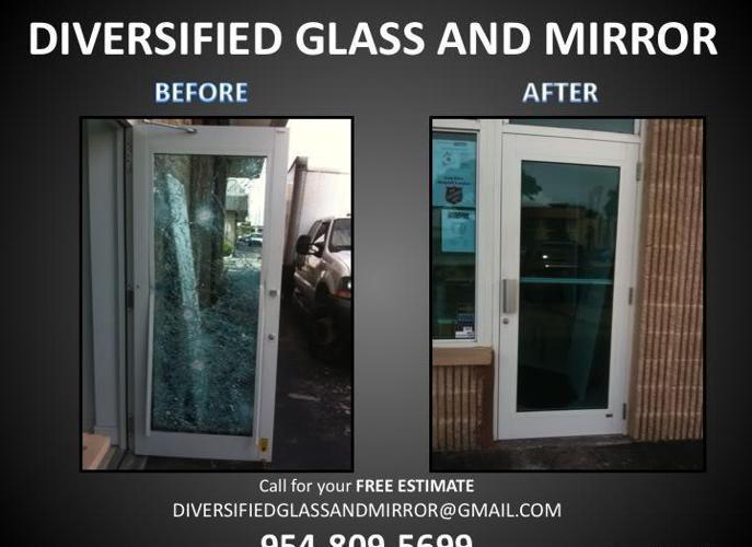 WESTON FL:. BROKEN SLIDING DOOR REPAIR, GLASS REPAIR, MIRROR REPAIR & REMOVAL