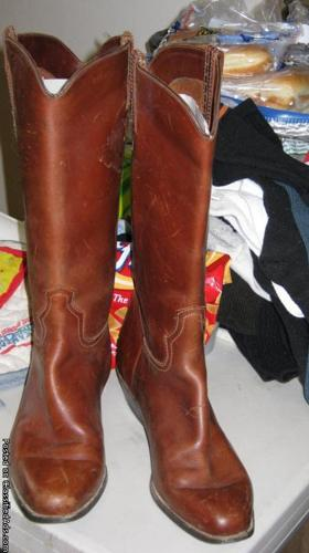 Womens Leather Maine Woods Riding Boots