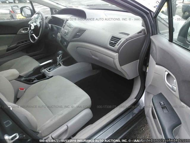 Year : 2012 Make : Honda Model : Civic Trim Level : Gasoline ECO Body Style : Sedan